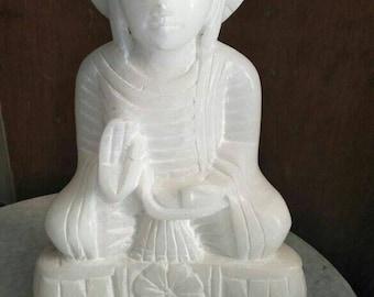 Handmade buddha white marbal statue