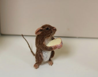 NOW SOLD...Needle felted mouse.....please can i keep this piece !!!