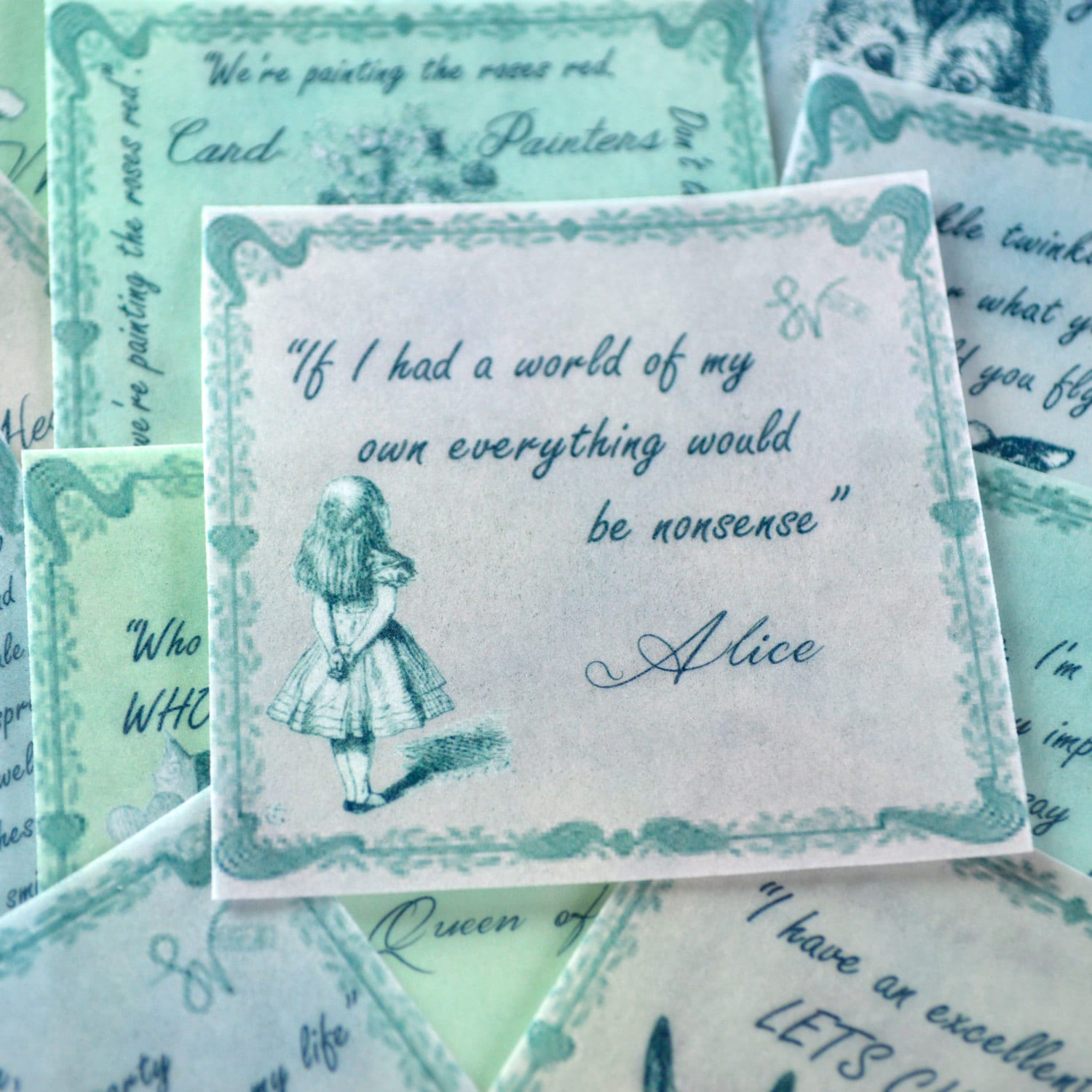 Soft Quotes Edible Alice In Wonderland Quotes Soft Pastel Colours 12 Wafer