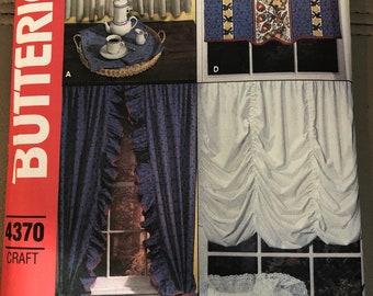 Butterick craft pattern #4370 window treatments Curtain Pattern Set
