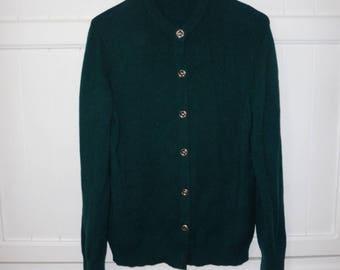 vintage LYLE & SCOTT size M - vintage 1980's cashmere Cardigan