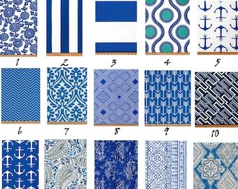 Cobalt Outdoor Pillow Cover - Cobalt Blue and White PILLOW - Lumbar - Various Sizes - Dark Blue Pillow Cover - Sunroom - 20x20,18x18,22x22