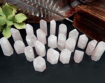 Rose Quartz Polished Points- Under 40grams - Natural Pink Stone - Choose 1,3,5 Qty (OB8B24)