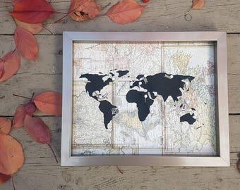 Traveler's Journey Pin Map - Map Print