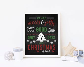 We Are Merry & Jolly - Advent Calendar Digital Print - Instant Download