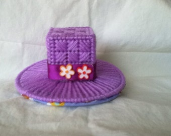 Lavender top hat barrette