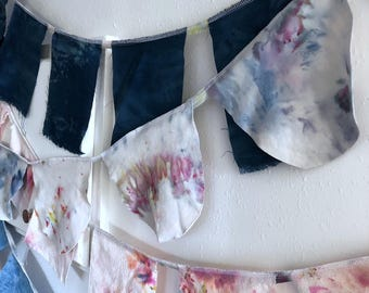 Hand dyed organic cotton bunting