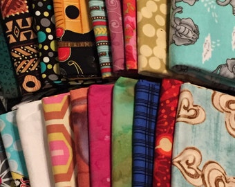 TWENTY (20) FAT QUARTERS!!!!!  Fat Quarters.......all different......All 100% cotton quilt shop fabric