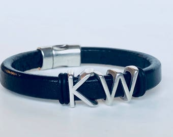 Keller Williams KW Black One Thing Leather Bracelet