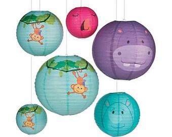 My Safari party Lanterns/ baby shower / jungle lanterns/