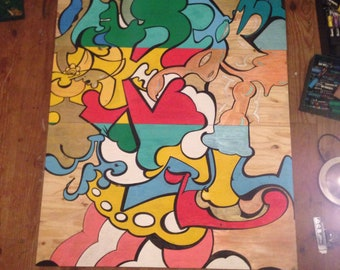 Colors on wood