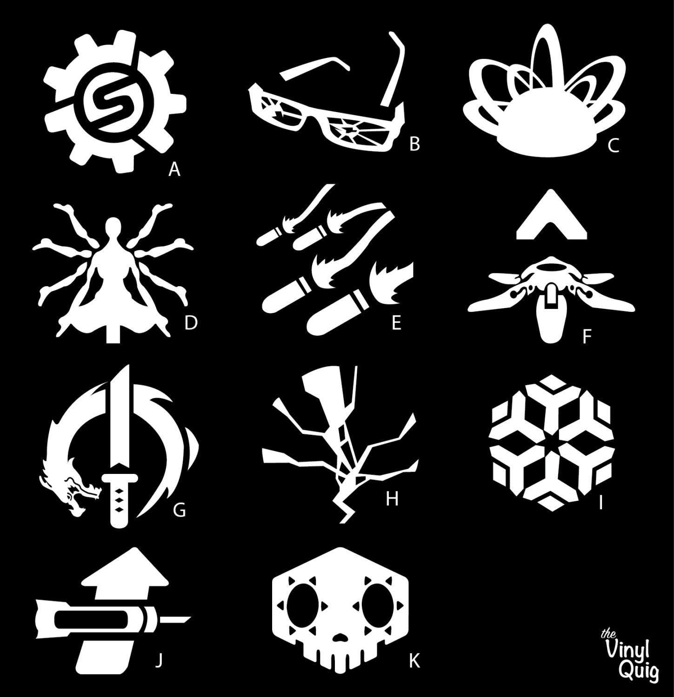 Overwatch ultimates vinyl sticker torbjrn winston zarya zoom buycottarizona