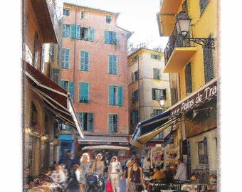 Historic Old Buildings in Nice, France - Limited Edition Art Print