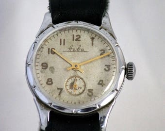 NEVA Extremele Rare Vintage Military SERViCED watch 16 Jewels from 1957 made in USSR
