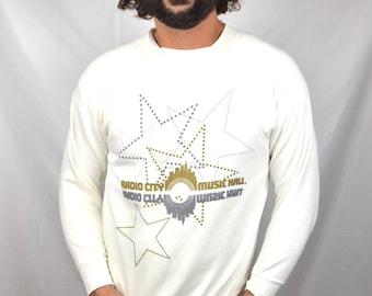 Vintage 80s Radio City Music Hall White Sweatshirt