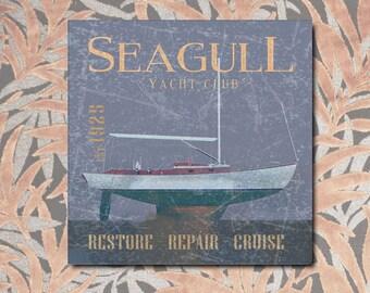 Vintage sailing, sailboat, sailing, sea, sailing, holiday, Italy, vintage