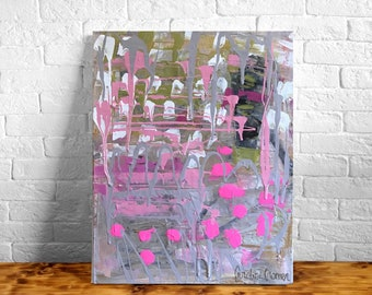 11x14 Abstract Painting on Heavy Gallery Wrapped Canvas