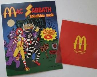 Mac Sabbath coloring book with free Flexi-disc single Pair-a-buns