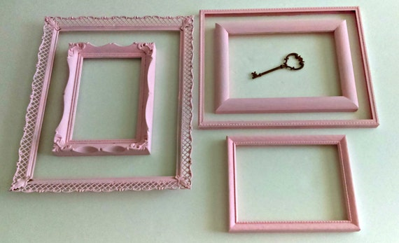 Vintage Upcycled Chalk Painted Frame Assortment/ Set of 5/ Cotton ...