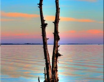 OBX, Pastel Sunset, Reflections, Outer Banks, North Carolina
