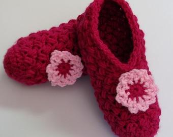 PATRON PDF no 8 Pantoufles crochet facile femme, français, anglais, chaussons, adulte, 3petitesmailles