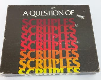 A Question of Scruples Complete Vintage 1984 Board Game