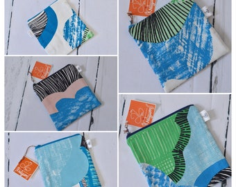 Coin pouch, notion pouch, stich markers pouch, wonder clip pouch, small zip pouch, small zippered pouch, quilted pouch