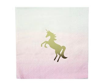 Unicorn Napkins | Magical Unicorn Party | Unicorn Plates | Unicorn Cups Napkins | Unicorn Party Decoration | Unicorn Party Theme