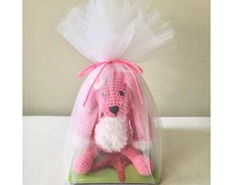 Flower Power Crochet Rabbit Stuffed Animal