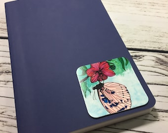 """Spotted Butterfly - Nature Watercolor Painting - 2.5"""" Sticker"""