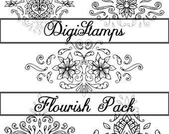 Ornamental Flourishes DigiStamp Pack