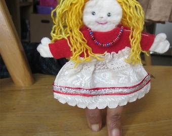 felt toys -- finger puppet doll