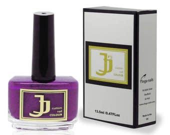 JJ Custom Colour Royal Purple Nail Varnish - Purple Nail Polish