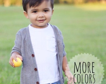 Baby cardigan // toddler cardigan // vneck cardigan // grandpa cardigan // lightweight sweater // baby sweater // gender neutral // sweater