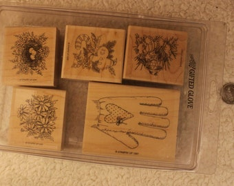 Gifted Glove Stampin' Up 1997 (Set of 5)