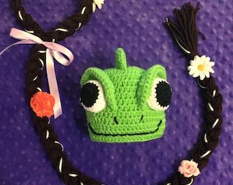 Pascal Hat, Tangled, Pascal Costume, optional Rapunzel hair, Headband