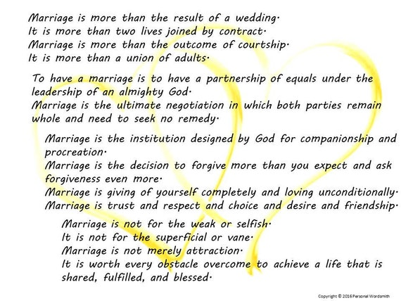 Poems To Read At Wedding: Items Similar To Marriage Poem Digital Print, Wedding