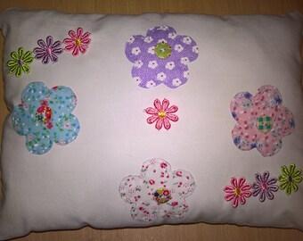 shabby chic flower pillow / cushion