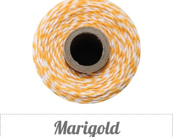 10 yards/ 9.144 m Marigold Golden Yellow Orange and White Twine