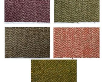 Herringbone wool fabric