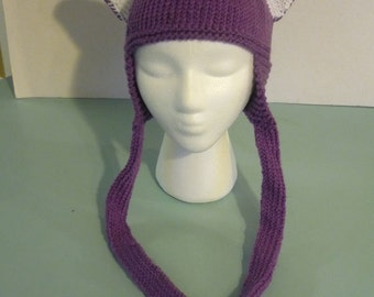 Animal Ear Hat - Purple Cat