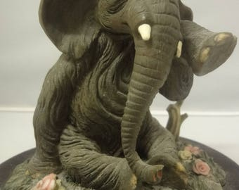 Wooden carving on Plinth of an ELEPHANT standing by the Juliana collection