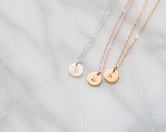 Initial Necklace | Letter Necklace | Custom Hand Stamped Necklace | Initial Jewellery | Hand Stamped Jewellery | Personalised Necklace