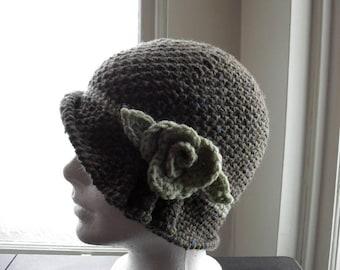 Elegant Vintage hat, style of the 1920s.