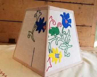 Khaki Floral Lampshade