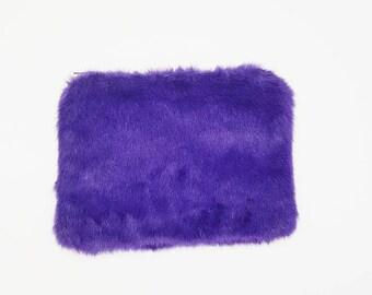 Leslie Faux Fur Clutch