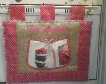 Country oven cover in red