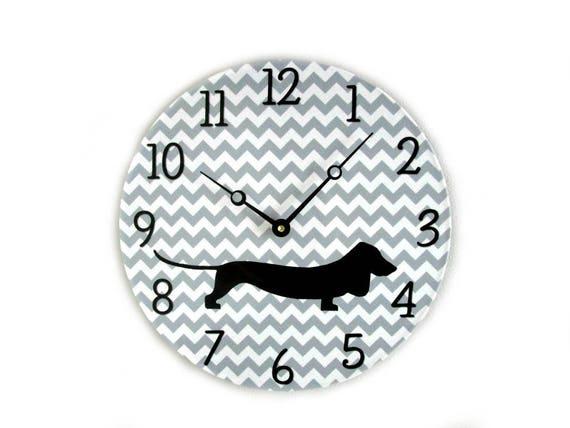 Dachshund Wall Clock Doxie Gifts Dog Wall Decor Dog Wall