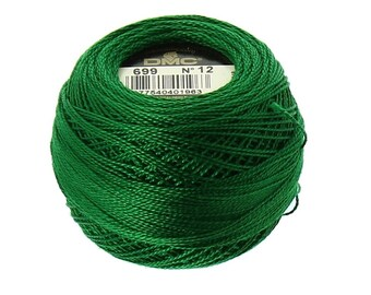 DMC 699 Christmas Green - Perle Cotton Thread Size 12