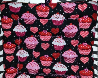 Heart & Cupcake Potholder